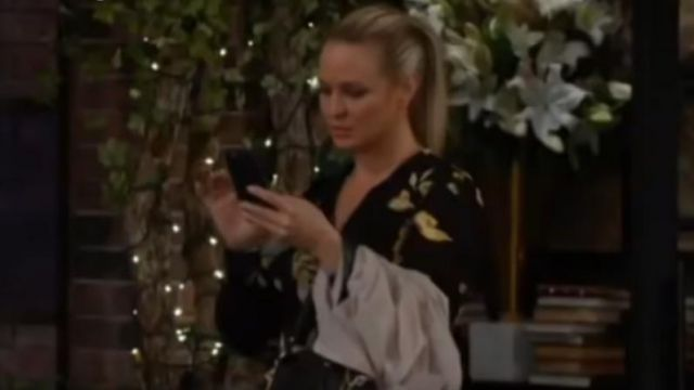 Joie Gyan Dress outfit worn by Sharon Collins (Sharon Case) in The Young and the Restless October 4, 2019 - TV Show Outfits and Products