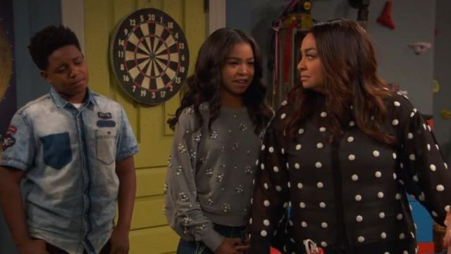 Joie Jesiah Sweatshirt outfit worn by Navia Robinson in Raven's Home (S03E01) - TV Show Outfits and Products