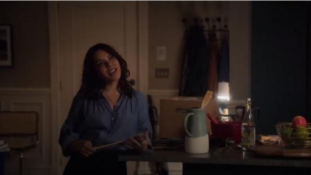Joie Mineko Blouse outfit worn by Isabel Pardo (Elena Tovar) in Designated Survivor (Season 03 Episode 02) - TV Show Outfits and Products