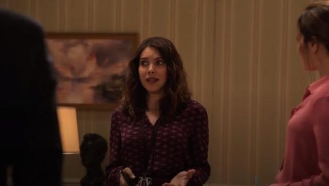 Joie Mintee Blouse in Blackberry outfit worn by Isabel Pardo (Elena Tovar) in Designated Survivor (Season 03 Episode 02) - TV Show Outfits and Products