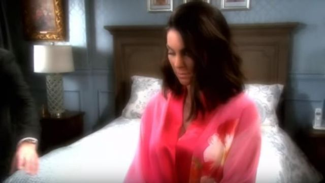 Josie Natori Floral Print Belted Robe outfit worn by Chloe Lane (Nadia Bjorlin) as seen in Days of Our Lives May 26, 2019 - TV Show Outfits and Products
