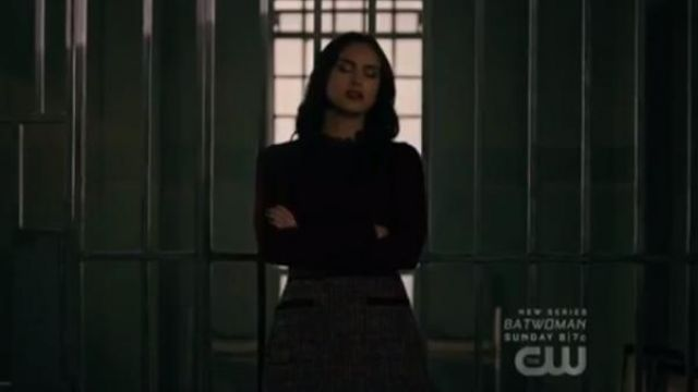 Kate Spade tweed midi skirt outfit worn by Veronica Lodge (Camila Mendes) in Riverdale Season 4 Episode 5 - TV Show Outfits and Products