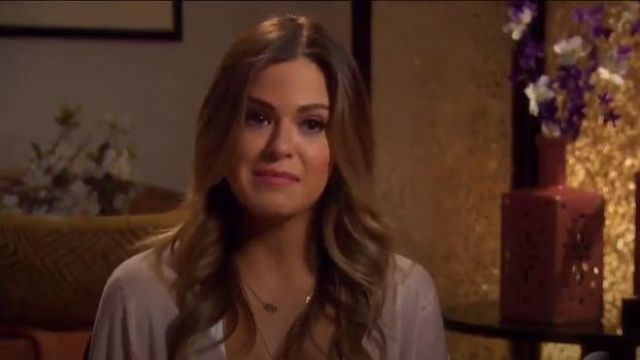 Kendra Scott Elisa Pendant Necklace. outfit worn by JoJo Fletcher in The Bachelorette (S12E09) - TV Show Outfits and Products