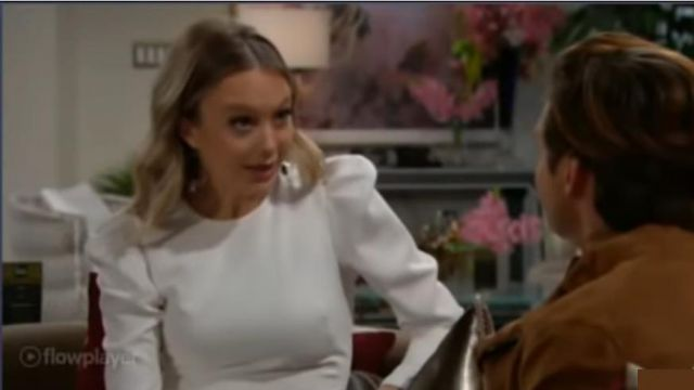 Kendra Scott Silver Hoop Earrings outfit worn by Abby Newman (Melissa Ordway) as seen on The Young and the Restless November 13, 2019 - TV Show Outfits and Products