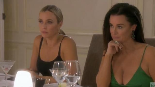 Kenneth Jay Lane Emerald Earrings outfit worn by Herself (Kyle Richards) in The Real Housewives of Beverly Hills (S09E19) - TV Show Outfits and Products