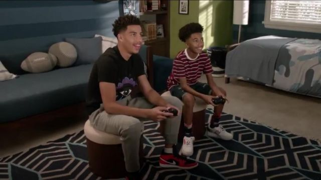 Kenzo Black Eye T Shirt outfit worn by Andre Johnson, Jr. (Marcus Scribner) in black-ish Season 6 Episode 3 - TV Show Outfits and Products