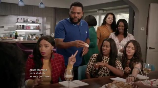 Kenzo Polo à Logo Brodé Tiger outfit worn by Andre 'Dre' Johnson (Anthony Anderson) in black-ish Season 6 Episode 3 - TV Show Outfits and Products