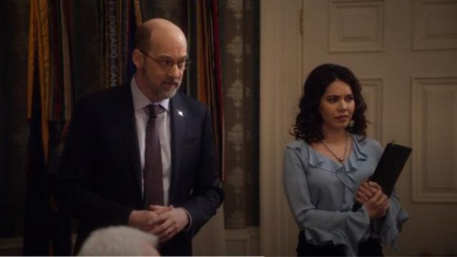 Kobi Halperin Genny Blouse outfit worn by Isabel Pardo (Elena Tovar) in Designated Survivor (Season 03 Episode 10) - TV Show Outfits and Products