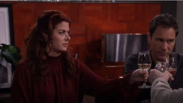 Kobi Halperin Lucca Blouse outfit worn by Grace Adler (Debra Messing) in Will & Grace (S02E15) - TV Show Outfits and Products