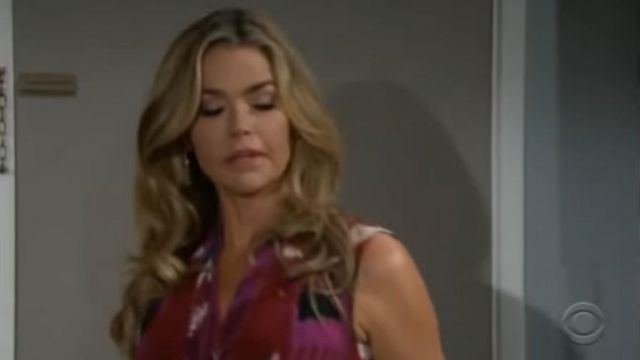 Kobi Halperin Martina silk blouse outfit worn by Shauna Fulton (Denise Richards) in The Bold and the Beautiful October 3, 2019 - TV Show Outfits and Products