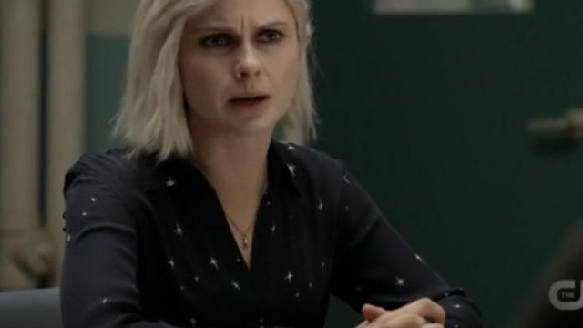 L'Agance Nina Blouse outfit worn by Olivia Moore (Rose McIver) in iZombie (S05E07) - TV Show Outfits and Products