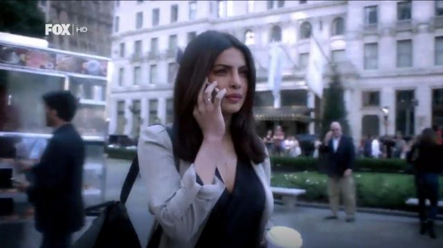 L'Agence Gia Long Sleeve Silk Wrap Blouse outfit worn by Alex Parrish (Priyanka Chopra) in Quantico (S02E01) - TV Show Outfits and Products