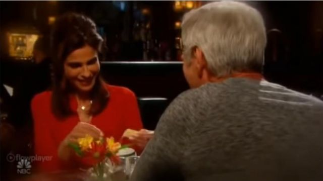 L'Agence Harissa Blouse outfit worn by Hope Brady (Kristian Alfonso) as seen on Days of Our Lives November 15, 2019 - TV Show Outfits and Products