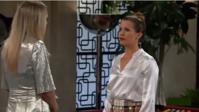 L'Agence Marcella Ivory Bodysuit outfit worn by Chelsea Lawson Newman (Melissa Claire Egan) as seen on The Young and the Restless November 6, 2019 - TV Show Outfits and Products
