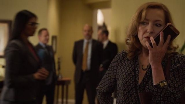 L'Agence Nina Blouse outfit worn by Lorraine Zimmer (Julie White) in Designated Survivor (Season 03 Episode 01) - TV Show Outfits and Products