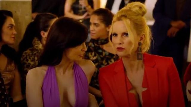La Perla Short Sheath Dress with Built-In Bra outfit seen on Alexis Carrington (Nicollette Sheridan) in Dynasty (S01E19) - TV Show Outfits and Products