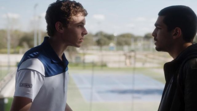 Lacoste polo of Ander (Arón Piper) seen in Elite (Season 1 Episode 6) - TV Show Outfits and Products