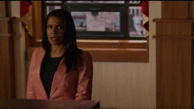 Lafayette 148 Brandt Leather Blazer Jacket outfit worn by Liz Reddick-Lawrence (Audra McDonald) in The Good Fight (S03E10) - TV Show Outfits and Products
