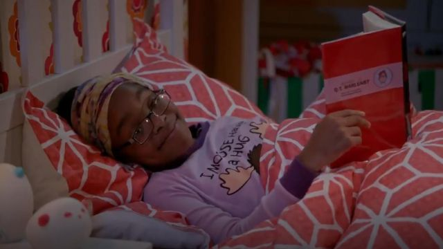 Lazy One Purple Moose Hug Long Sleeve outfit worn by Diane Johnson (Marsai Martin) in black-ish (Season 02 Episode 15) - TV Show Outfits and Products