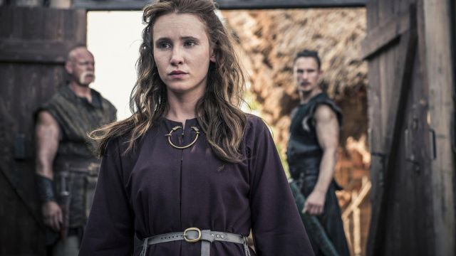 Leather belt Gisela (Peri Baumeister) seen in The Last Kingdom Season 2 Episode 3 - TV Show Outfits and Products