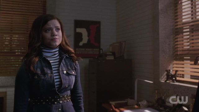 Fashion Trends 2021: Leather belt studded Maje outfit worn by Maggie Vera (Sarah Jeffery) seen in Charmed Season 1 Episode 2