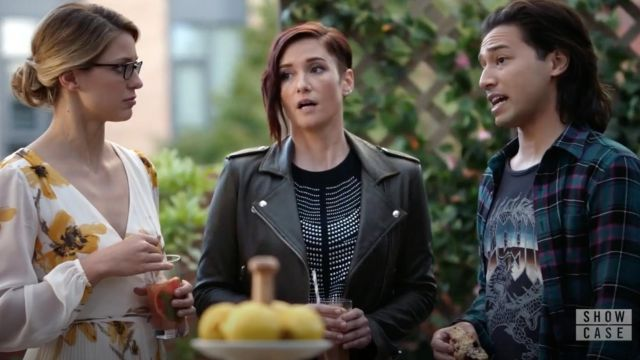 Leather jacket Iro outfit worn by Alex Danvers (Chyler Leigh) seen in Supergirl Season 4 Episode 5 - TV Show Outfits and Products