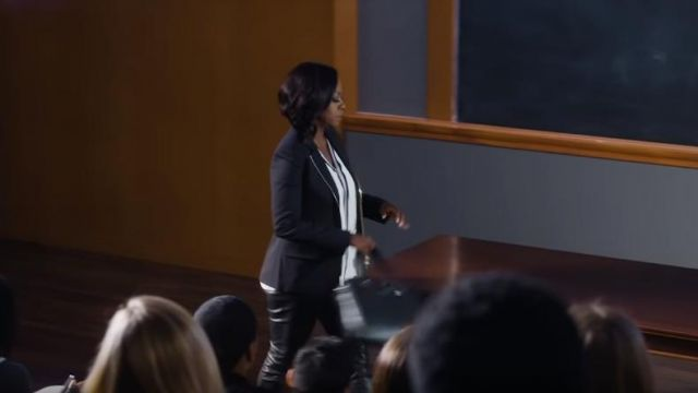 Leather pants of Annalise Keating (Viola Davis), in Murder Season 5 Episode 1 - TV Show Outfits and Products