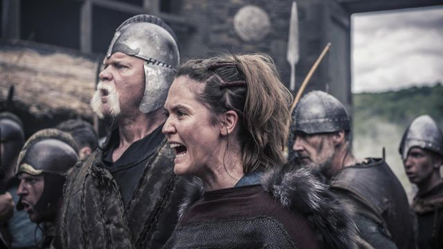 Leather straps in the hair of Brida (Emily Cox) seen in The Last Kingdom Season 2 Episode 4 - TV Show Outfits and Products