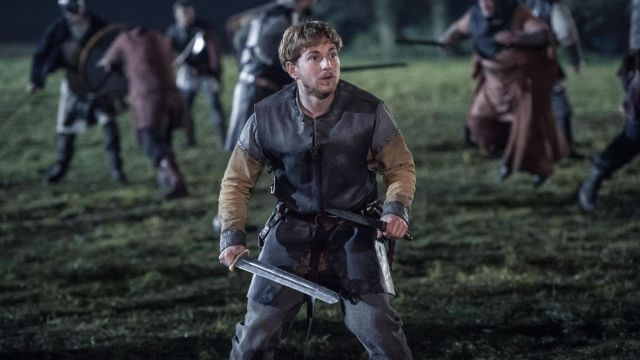 Leather tunic of Aethelwold (Harry McEntire) seen in The Last Kingdom Season 2 Episode 8 - TV Show Outfits and Products