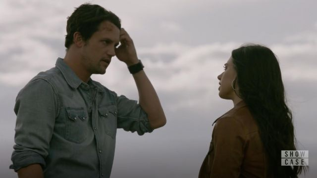 Fashion Trends 2021: Levi's Denim Western Shirt outfit seen on Max Evans (Nathan Parsons) in Roswell, New Mexico S01E02