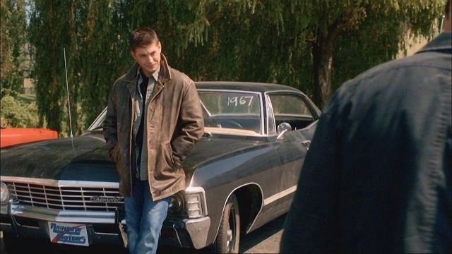 """License plate """"Rainbow Motors"""" of Dean Winchester (Jensen Ackles) seen in Supernatural Season 4 Episode 3 - TV Show Outfits and Products"""