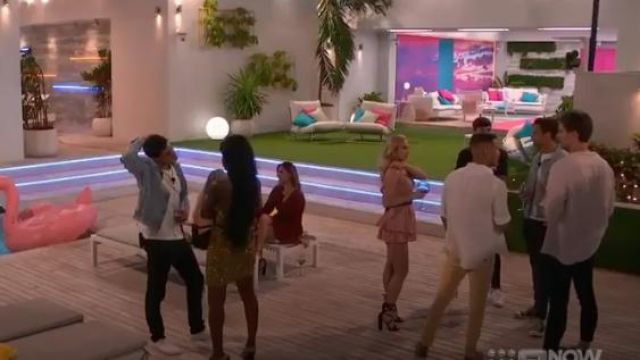 Lipstik black gael heels outfit worn by Jessie Wynter in Love Island Australia Season 2 Episode 1 - TV Show Outfits and Products
