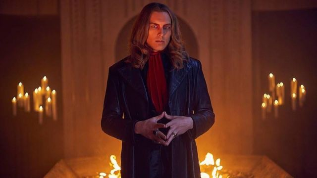 Long leather coat Michael Langdon (Cody Fern) seen in American Horror Story Revelation (Season 8) - TV Show Outfits and Products