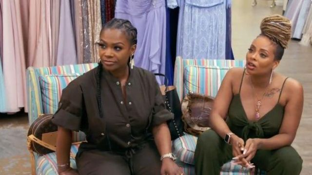 Louis Vuitton Circle Leather Print Bag outfit worn by Kandi Burruss in The Real Housewives of Atlanta Season 12 Episode 2 - TV Show Outfits and Products