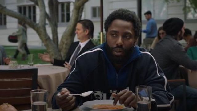 Louis Vuitton navy high neck 1/4 Zip Louis print hoodie outfit worn by Ricky Jerret (John David Washington) in Ballers Season 05 Episode 07 - TV Show Outfits and Products