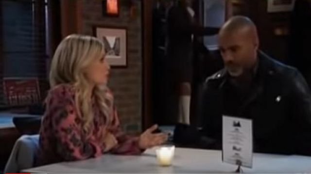 Lucky brand Paisley & Floral Peasant Top worn by Lulu Spencer Falconeri (Emme Rylan) as seen on General Hospital December 18
