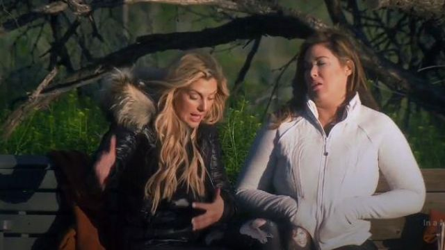 Lululemon gray zip up jacket outfit worn by Emily Simpson in The Real Housewives of Orange County Season 14 Episode 09 - TV Show Outfits and Products