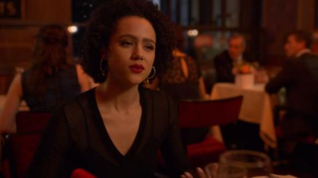 M Missoni Black Jacquard Short Dress outfit worn by Maya (Nathalie Emmanuel) in Four Weddings and a Funeral Season 1 Episode 10 - TV Show Outfits and Products