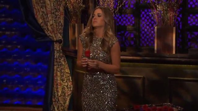 Mac Duggal 4202N Dress outfit worn by JoJo Fletcher in The Bachelorette (S12E04) - TV Show Outfits and Products