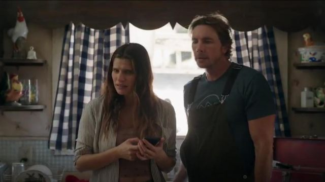 Madawell Classic Ex Boyfriend Stripe Shirt outfit worn by Rio (Lake Bell) in Bless This Mess Season 2 Episode 2 - TV Show Outfits and Products