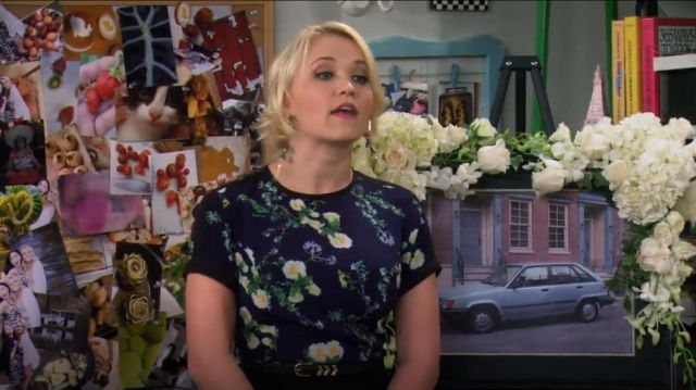 Made Fashion Week for Impulse Floral print Dress outfit worn by Gabi Diamond (Emily Osment) in Young & Hungry (S01E08) - TV Show Outfits and Products