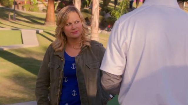 Madewell Anchors and Polka dot sweater outfit worn by Leslie Knope (Amy Poehler) in Parks and Recreation (S05E21) - TV Show Outfits and Products