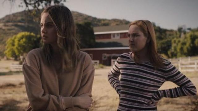 Madewell Smulti Striped long sleeve top outfit worn by Violet Simmons (Haley Ramm) in Light as a Feather Season 02 Episode 15 - TV Show Outfits and Products