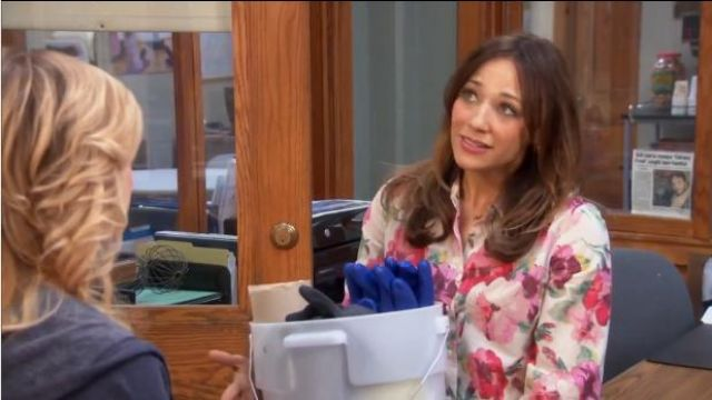 Madewell Tearose blouse outfit worn by Ann Perkins (Rashida Jones) in Parks and Recreation (S05E22) - TV Show Outfits and Products