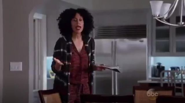 Maison Scotch Short Sleeve Jumpsuit outfit worn by Rainbow Johnson (Tracee Ellis Ross) in black-ish (Season01 Episode23) - TV Show Outfits and Products