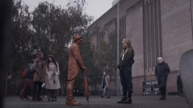 Maje Black Boots outfit worn by Villanelle (Jodie Comer) in Killing Eve (S02E05) - TV Show Outfits and Products