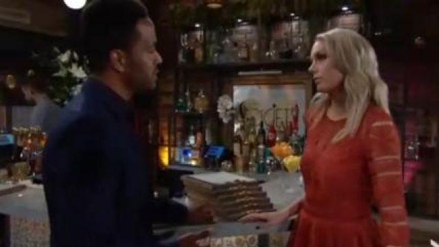 Maje Ripiza Dress outfit worn by Melissa Ordway as seen in The Young and the Restless June 19,2019 - TV Show Outfits and Products