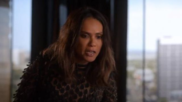 Manning Cartell Supreme Extreme Appliquéd Top outfit worn by Mazikeen (Lesley-Ann Brandt) in Lucifer (S04E06) - TV Show Outfits and Products