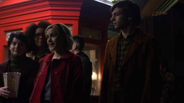 Mantle of Harvey Kinkle (Ross Lynch) seen in The New Adventures of Sabrina (Season 1 Episode 1) - TV Show Outfits and Products