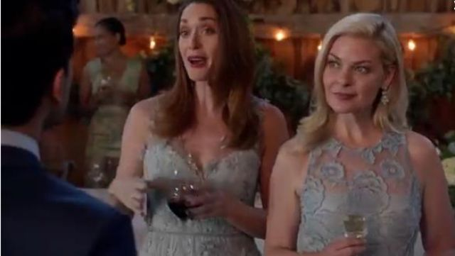 Marchesa Notte Floral Embroidered Plunging Gown outfit worn by Abigail Pershing (Sarah Power) in Good Witch (S05E02) - TV Show Outfits and Products